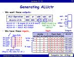 generating aluctr