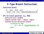 i type branch instructions