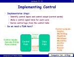implementing control