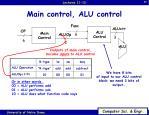 main control alu control1