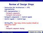 review of design steps