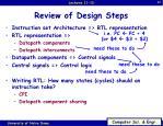 review of design steps1