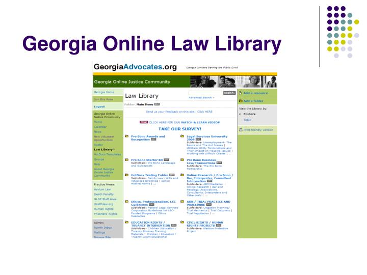 Georgia Online Law Library