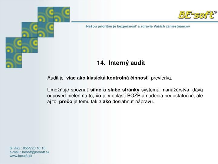 14. Interný audit
