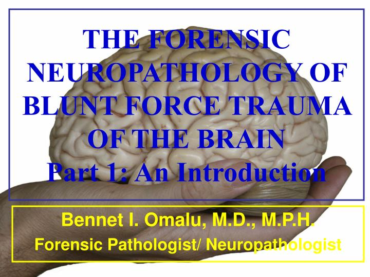 the forensic neuropathology of blunt force trauma of the brain part 1 an introduction n.