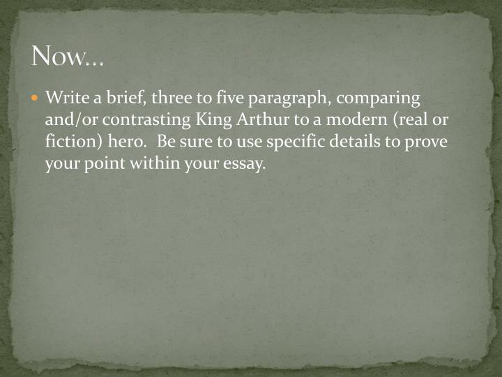 5 paragraph essay on king arthur