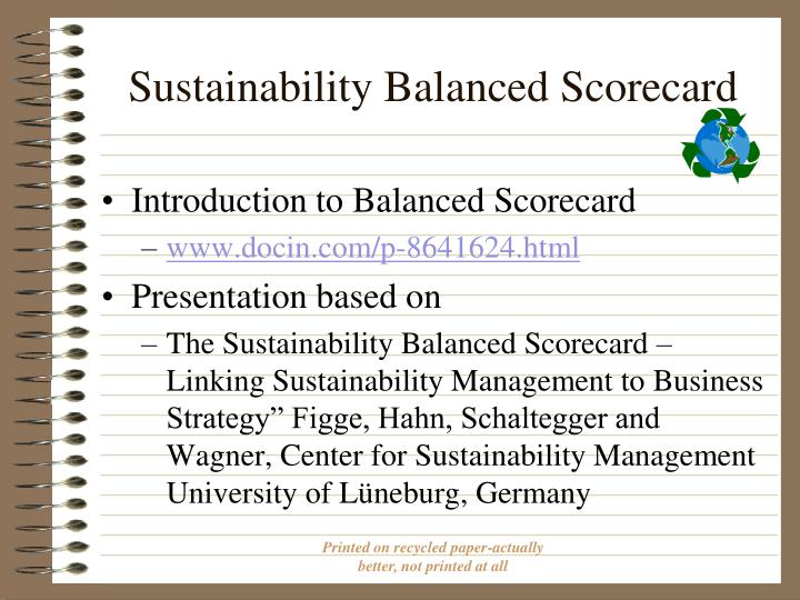 Sustainability balanced scorecard1