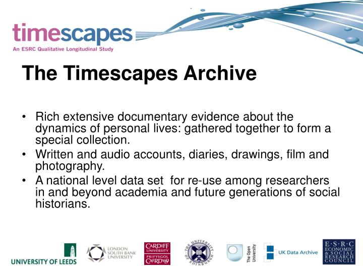 The Timescapes Archive