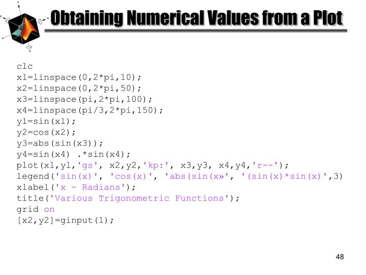 Obtaining Numerical Values from a Plot