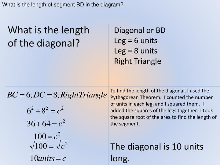 What is the length of segment BD in the diagram?
