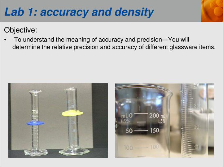 lab 1 accuracy and density n.