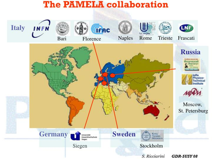 The pamela collaboration