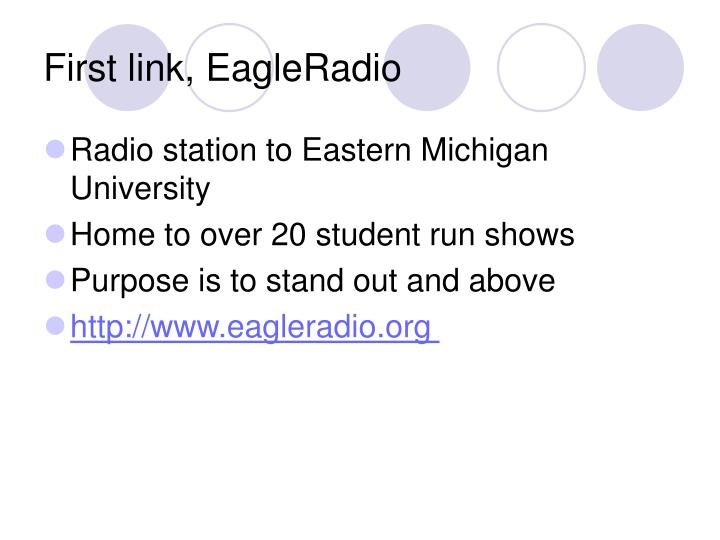 First link, EagleRadio