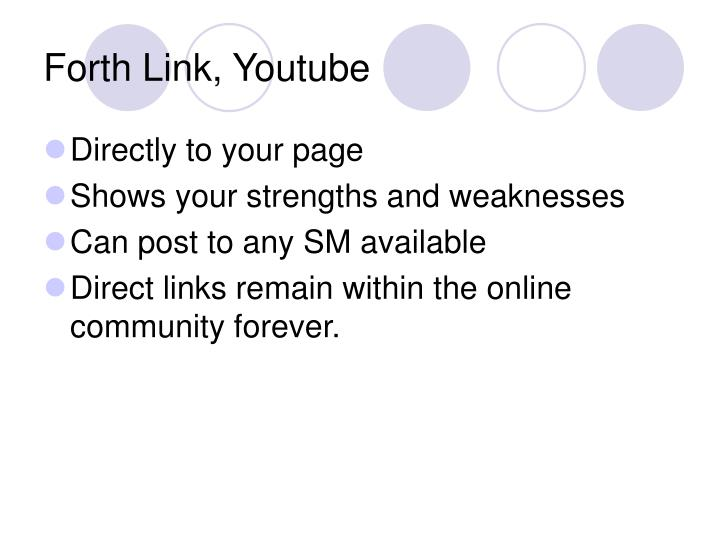 Forth Link, Youtube