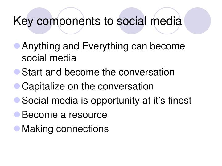 Key components to social media
