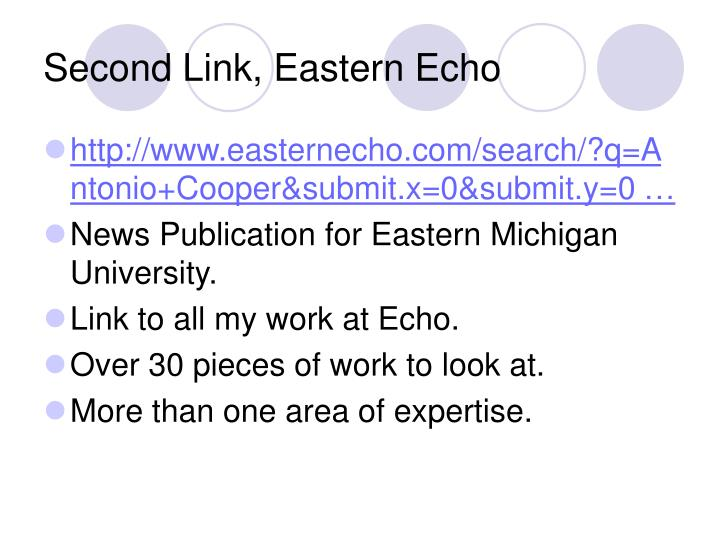 Second Link, Eastern Echo