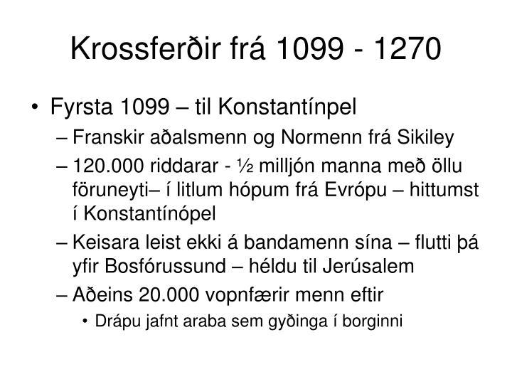 Krossferðir frá 1099 - 1270