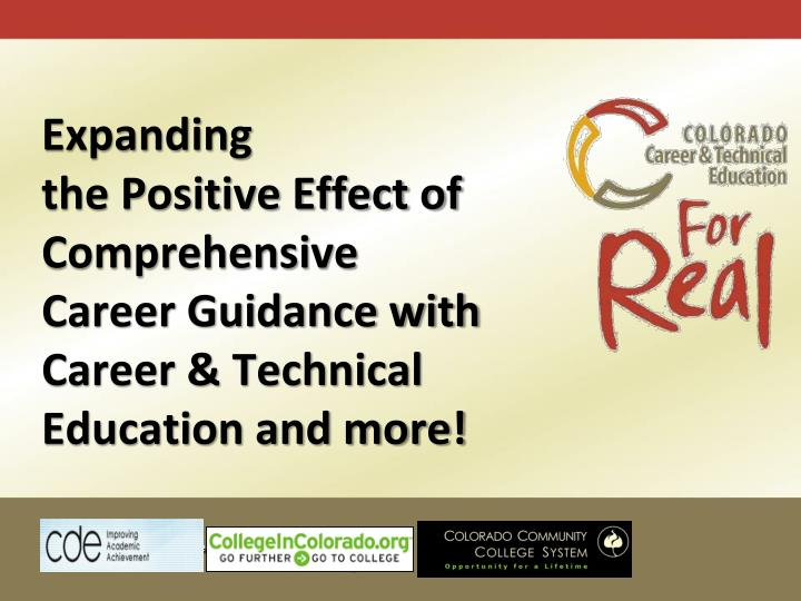 e career guidance presentation Your interests (eg, people, math, science) identify career possibilities your strengths (eg, creativity, leadership, writing)  document presentation format.