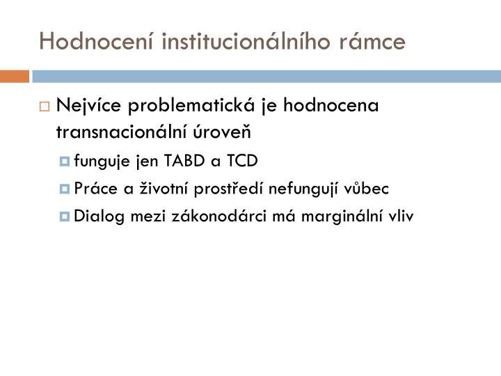 Hodnocení institucionálního rámce
