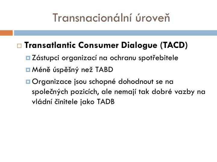 Transnacionální úroveň