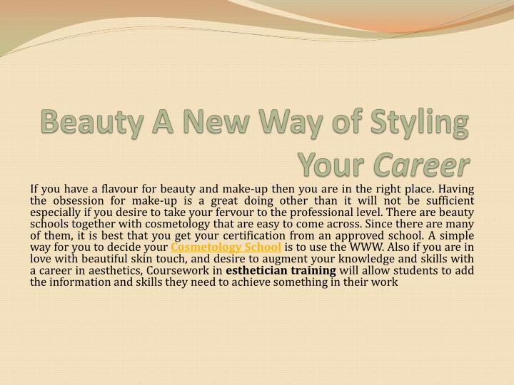 beauty a new way of styling your career n.