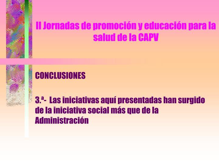 Ii jornadas de promoci n y educaci n para la salud de la capv2