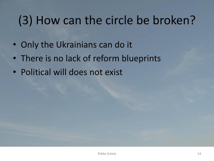 (3) How can the circle be broken?