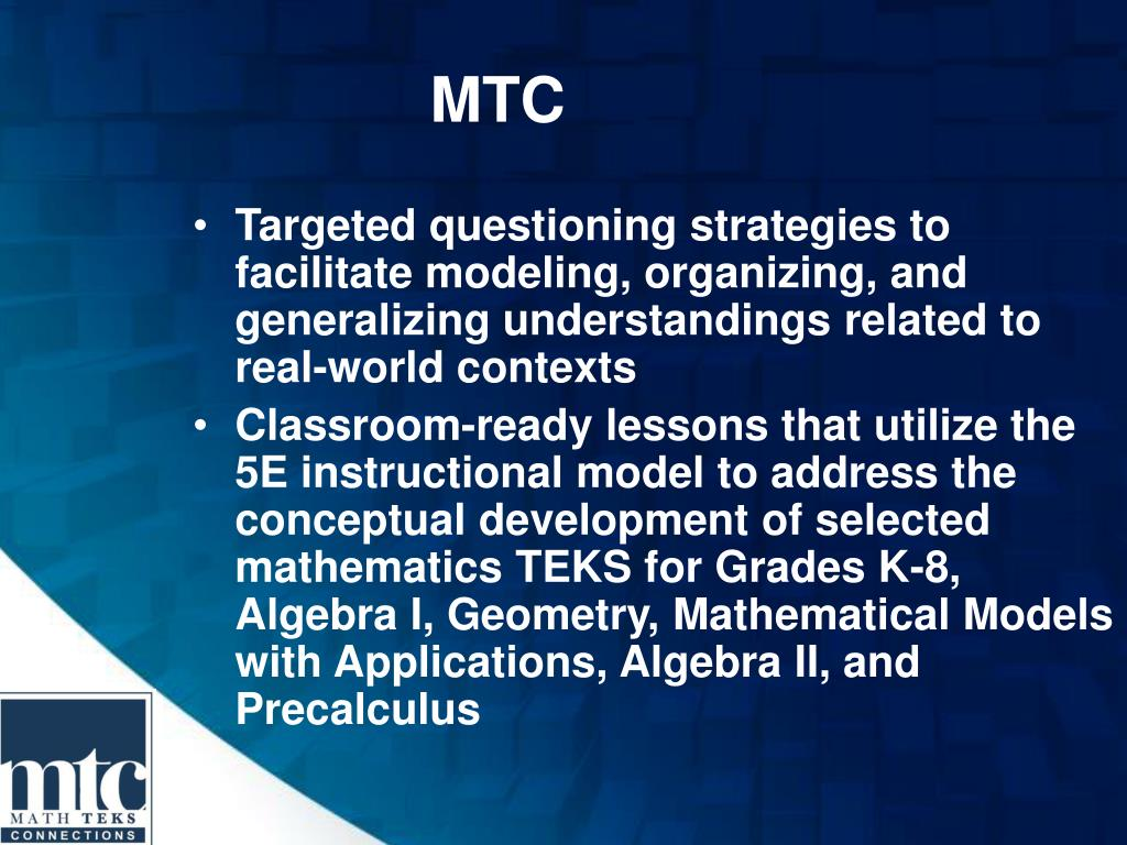 PPT - Mathematics TEKS Connections PowerPoint Presentation