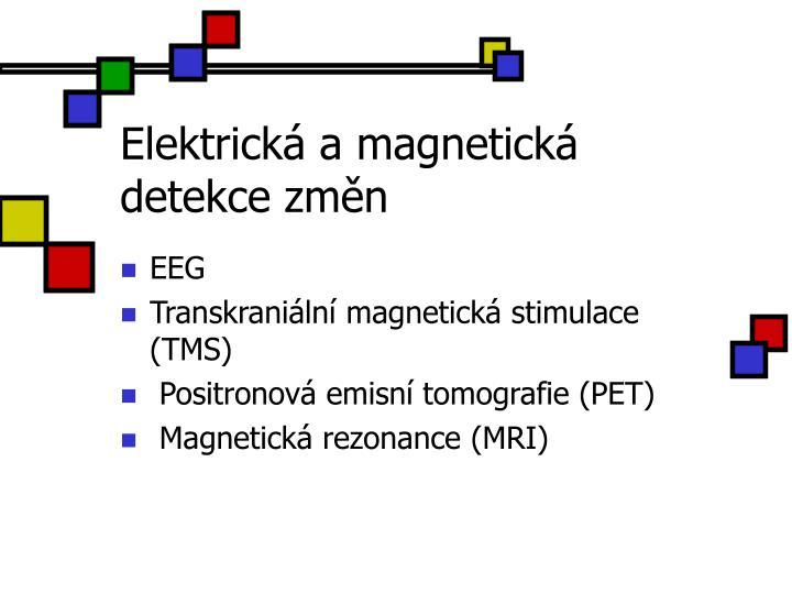 Elektrick a magnetick detekce zm n