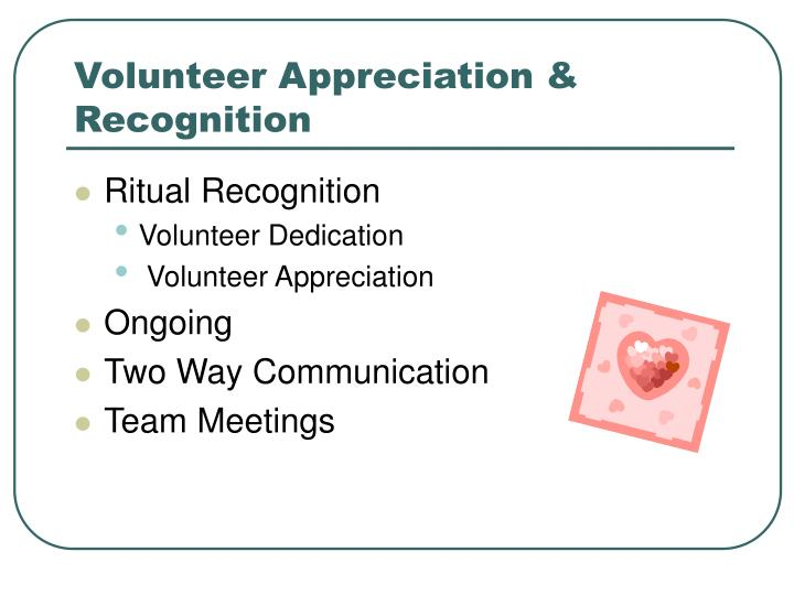 Volunteer Appreciation & Recognition