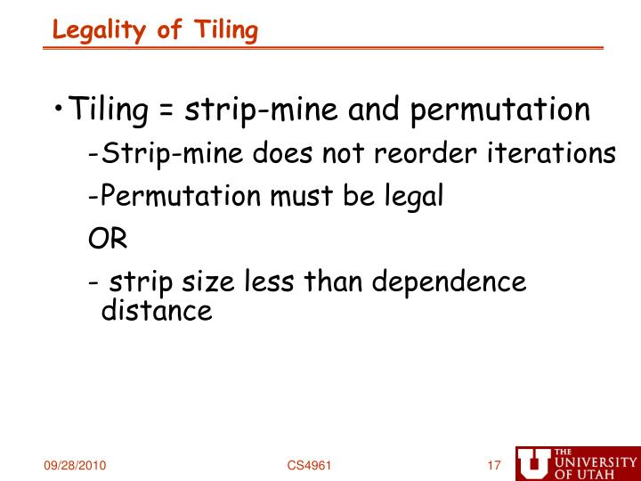 Legality of Tiling