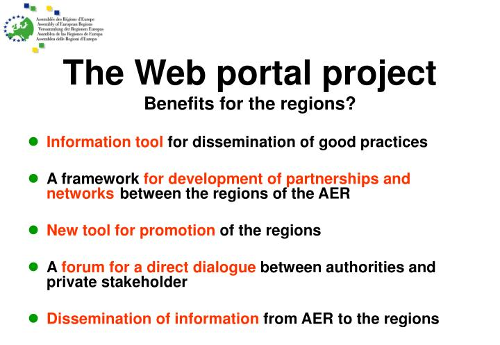 The Web portal project