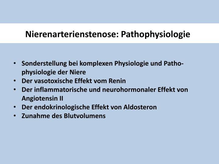 Nierenarterienstenose: Pathophysiologie