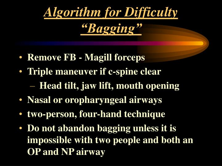 "Algorithm for Difficulty ""Bagging"""
