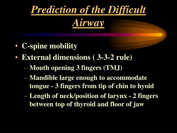Prediction of the Difficult Airway