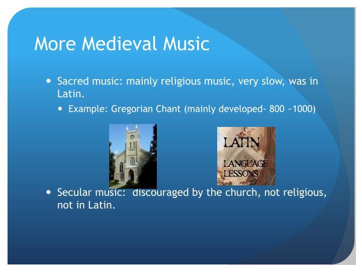 religion on musical development