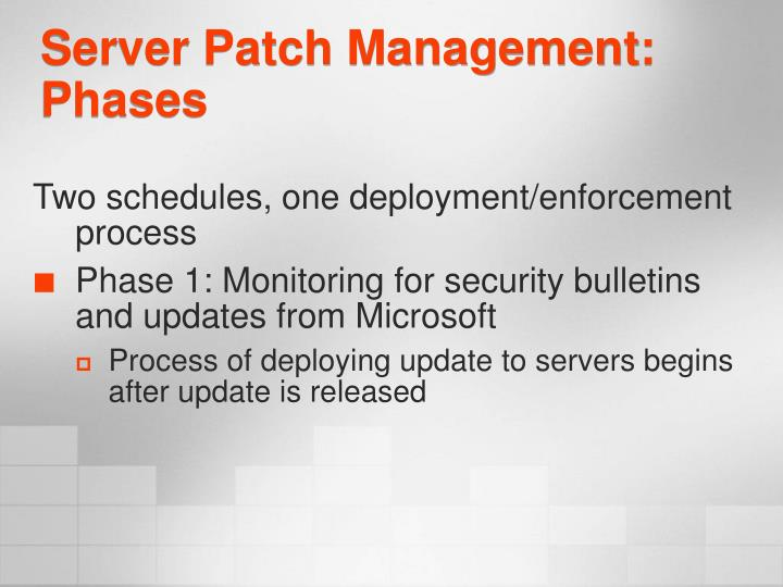 Server Patch Management: Phases