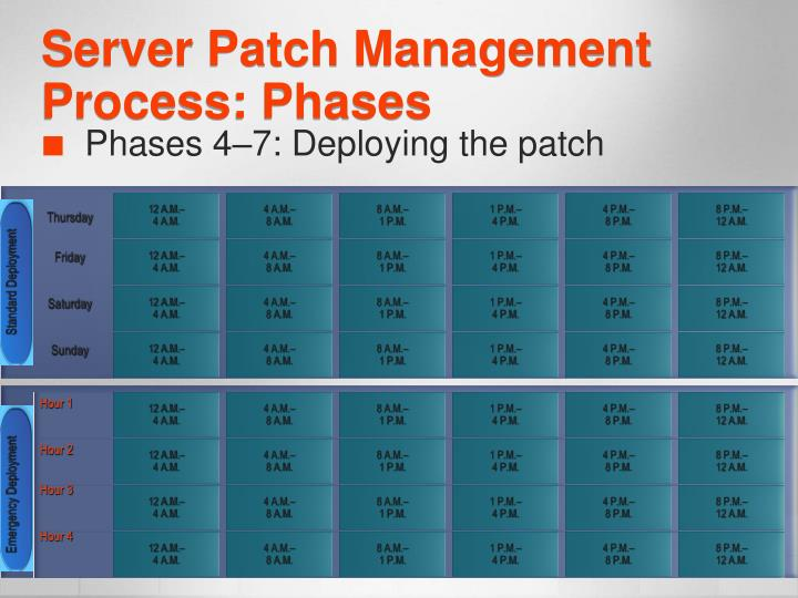 Server Patch Management Process: Phases
