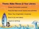theme make waves @ your library