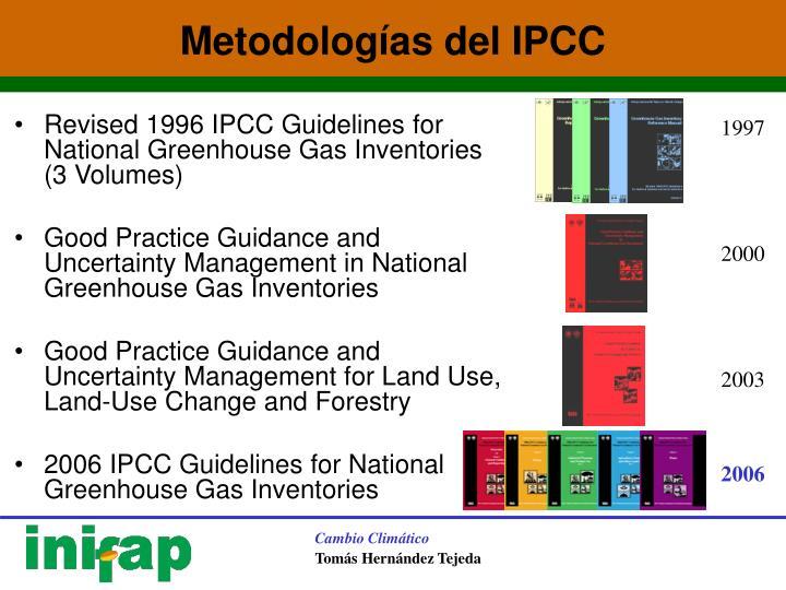 Metodologías del IPCC