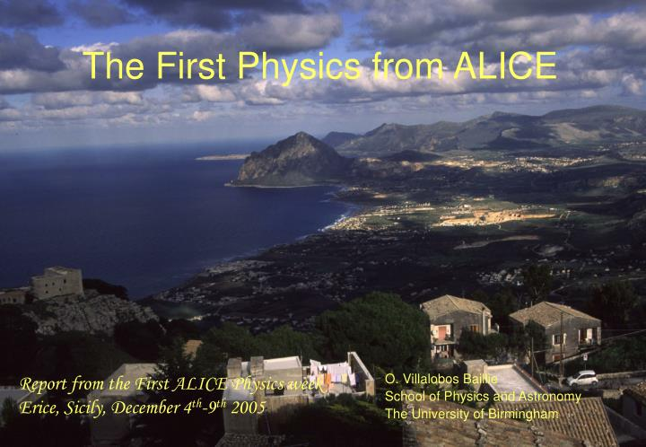 the first physics from alice n.
