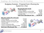 budgetary example projected cost of running the system for a year