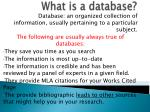 what is a database1