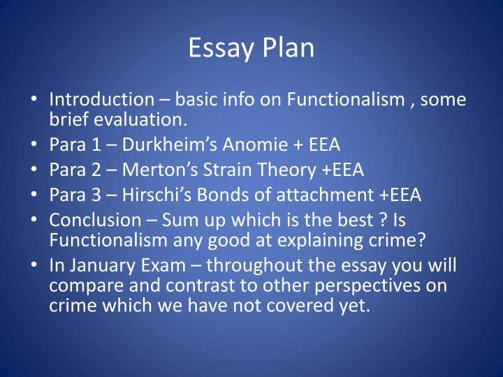 essay about functionalism The theory of functionalism and conflict theory differ in several ways they focus on different values, assume different things about society and.