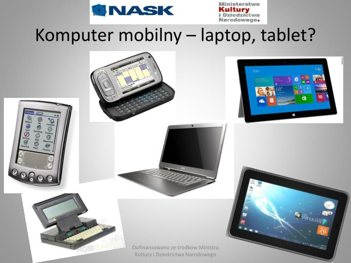 Komputer mobilny – laptop, tablet?