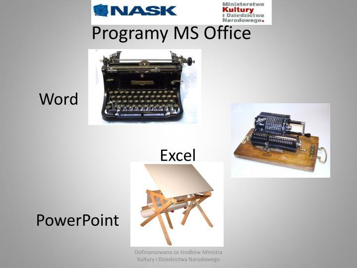 Programy MS Office
