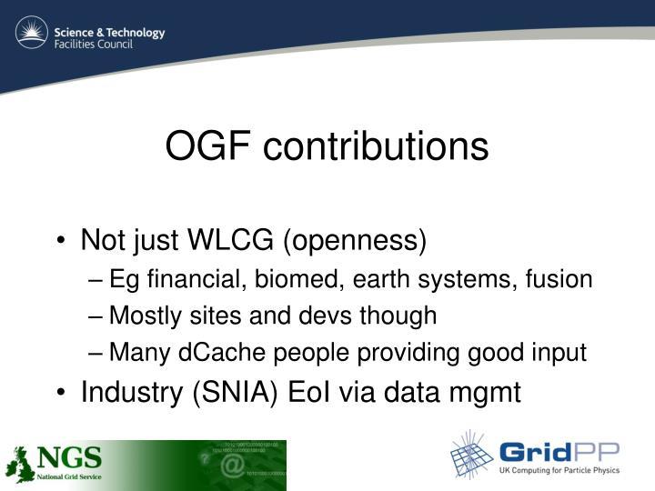 OGF contributions