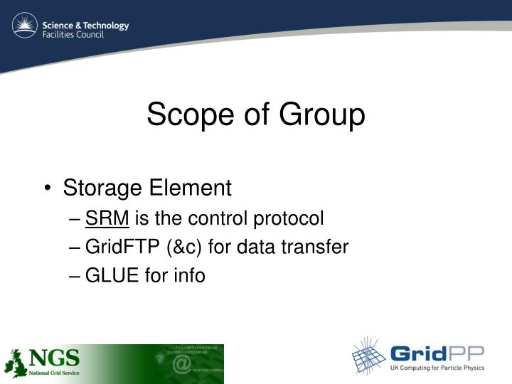 Scope of Group