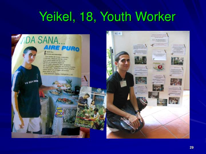 Yeikel, 18, Youth Worker