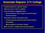 associate degrees 2 yr college